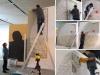 pochoirs, peinture et décortiquage